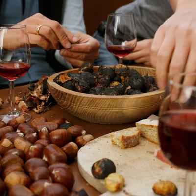 Chestnuts and red wine